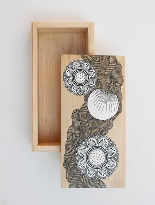 Lotus Patachitra Keepsake Box Long Decorative Box By Collective Craft