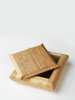 Wooden Box, Carved Flowers, Small Decorative Box By Collective Craft