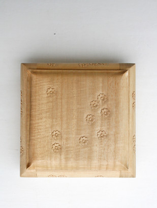 Wooden Box, Carved Flowers, Large Decorative Box By Collective Craft
