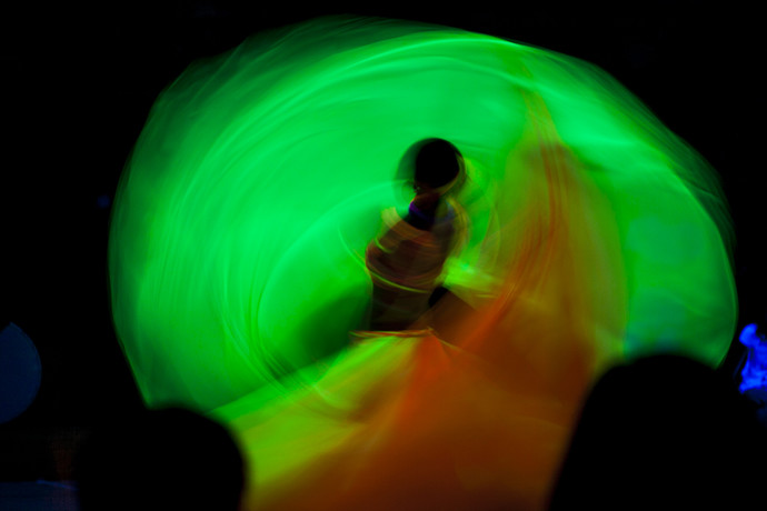 Dancer by Anamitra Chakladar, Image Photography, Giclee Print on Hahnemuhle Paper, Green color