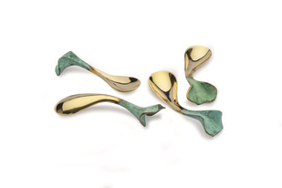 Ginko Brass Spoon L Table Ware By AnanTaya