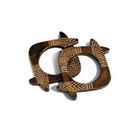 Naga horn trivets   set of 2