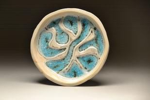 Glassy Pools by Meenakshi Garodia, Art Deco Sculpture   3D, Ceramic, Brown color