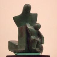 Sheela chamariya  unconditional love  11x9x9.75 inches  bronze  2012  ed. 3 6 sc 1032