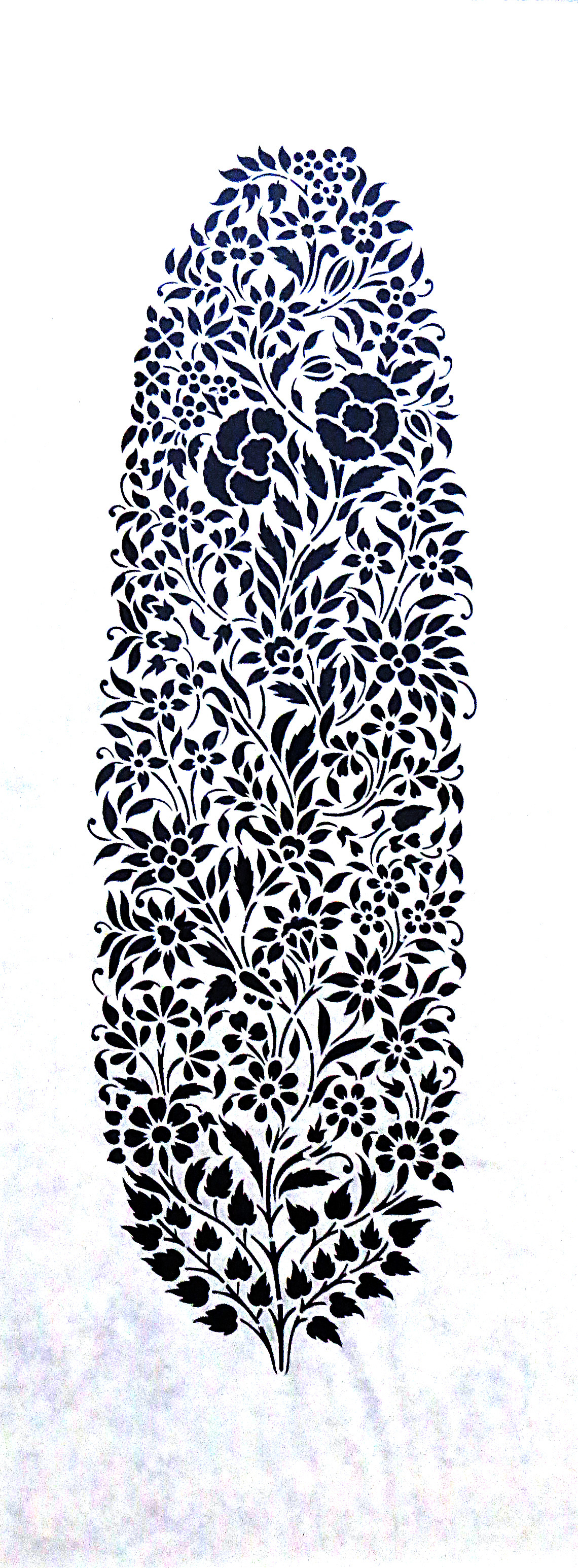 Untitled by Unknown Artist, Traditional, Traditional Painting, Hand Cut Paper, White color