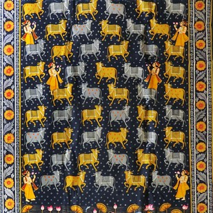 Untitled by Unknown Artist, Traditional, Traditional Painting, Natural stone colour on cotton, Brown color