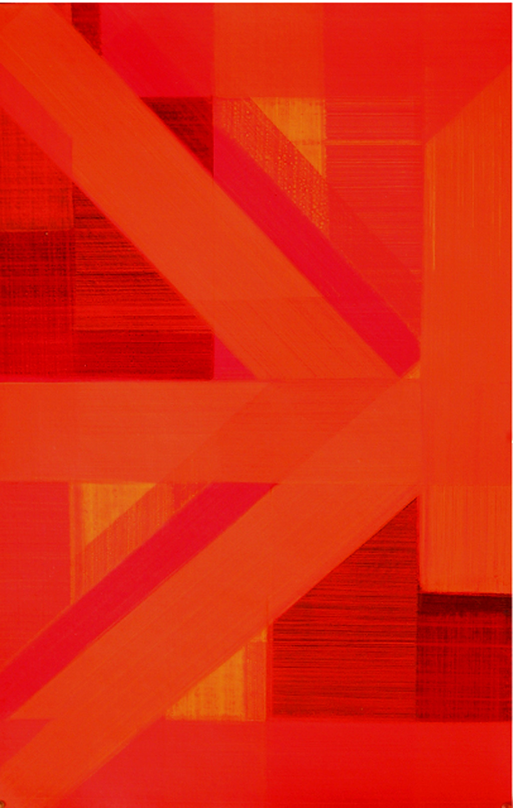 composition by arindam bose, Geometrical Painting, Acrylic on Board, Red color