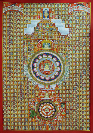 Jain Pichwai Artwork By Manish Sharma