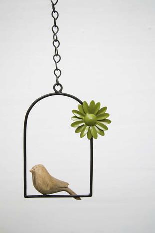 Hanging Bird Flower-Green Garden Decor By Studio Earthbox