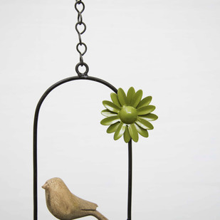 Hanging Bird Flower-Green Garden Decor By Studio Earthbox