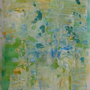 Soul Searching No.6 by Mahesh Sharma, Abstract Painting, Acrylic on Paper, Green color