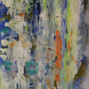 Soul Searching No.2 by Mahesh Sharma, Abstract, Abstract Painting, Acrylic on Paper, Gray color