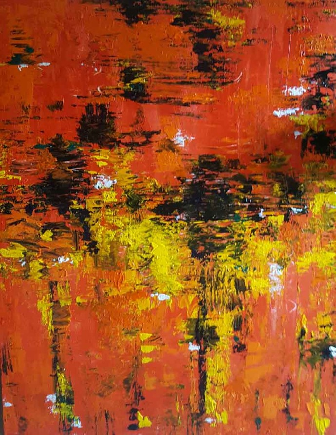 Autumn Leaves By Artist Taru Shikha Abstract Painting