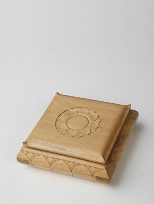 Carved Wooden Box, Lotus, Large Decorative Box By Collective Craft