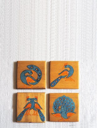 Peacock Coasters Table Ware By Collective Craft