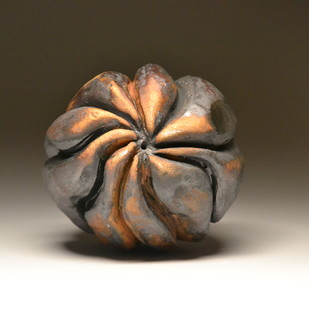 Urchin by Meenakshi Garodia, Art Deco Sculpture | 3D, Ceramic, Brown color