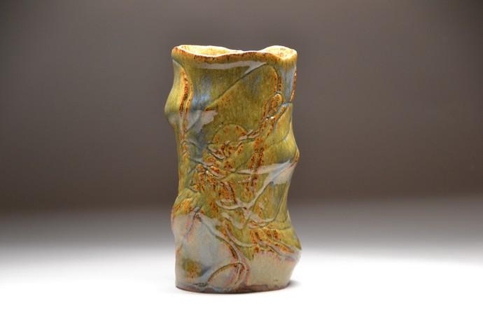 Spiro by Meenakshi Garodia, Art Deco Sculpture | 3D, Ceramic, Brown color