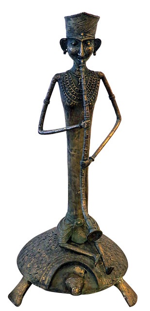 Mohariya Kachwa by Jaidev Baghel, Traditional Sculpture   3D, Brass, White color