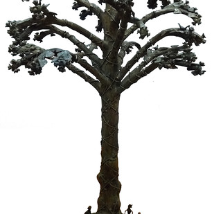 Tree of Life by Jaidev Baghel, Art Deco Sculpture | 3D, Brass, Gray color