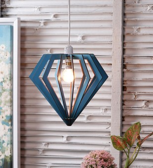 The Brighter Side Diamond sky blue pendant Ceiling Lamp By The Brighter Side