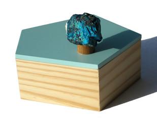 Blue abyss pentagon box Decorative Box By Tessera