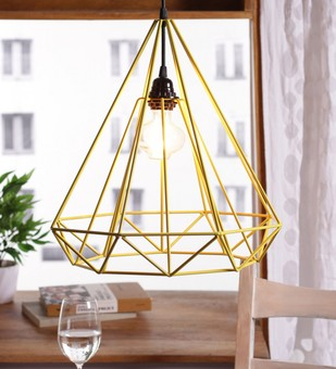 The Brighter Side Sergio yellow diamond pendant light Ceiling Lamp By The Brighter Side