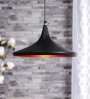The Brighter Side Black Vega plate pendant Ceiling Lamp By The Brighter Side