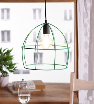 The Brighter Side Lucas green cage pendant light Ceiling Lamp By The Brighter Side