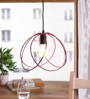 The Brighter Side Valerio red cage pendant light Ceiling Lamp By The Brighter Side