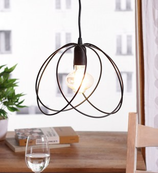 The Brighter Side Valerio Black cage pendant light Ceiling Lamp By The Brighter Side