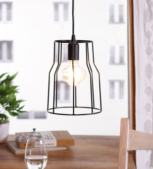 The Brighter Side costa black cage pendant light Ceiling Lamp By The Brighter Side