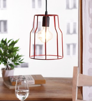 The Brighter Side costa red cage pendant light Ceiling Lamp By The Brighter Side