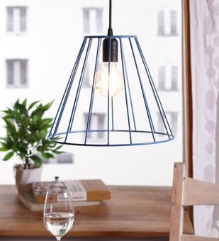 The Brighter Side lava blue cage pendant light Ceiling Lamp By The Brighter Side