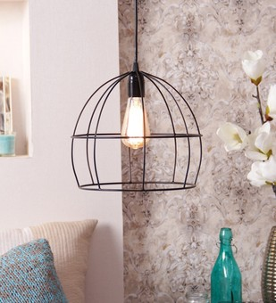 The Brighter Side Lucas Black cage pendant light Ceiling Lamp By The Brighter Side