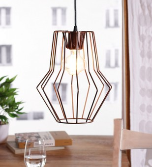 The Brighter Side copper brown cobweb pendant light Ceiling Lamp By The Brighter Side