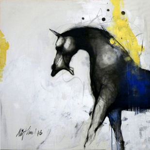 untitled by Mithun Dutta, Impressionism Drawing, Acrylic on Canvas, Gray color
