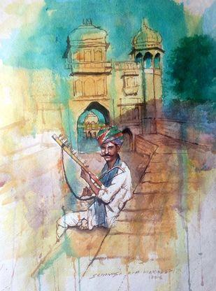 Desert Music Digital Print by Sreenivasa Ram Makineedi,Impressionism, Impressionism