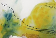 Migration # 2 by Pia Meenakshi, Abstract, Art Deco Painting, Mixed Media on Paper, Green color