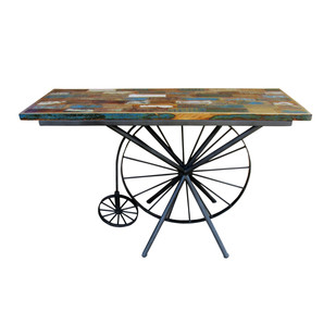 Penny Farthing Industrial Table Furniture By The Black Steel