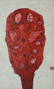 Womb Bloom - The Edge of Life by Ruchika Wason Singh, Abstract Painting, Acrylic on Canvas, Brown color