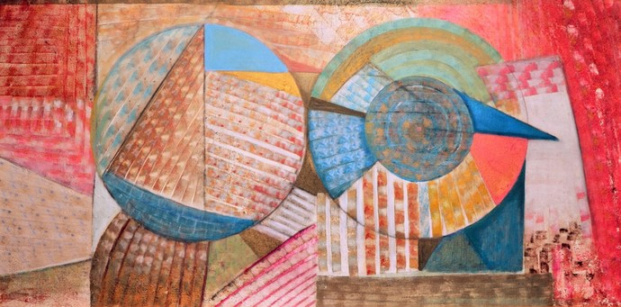Another Brick in The wall by Priya Yabaluri, Geometrical Painting, Acrylic on Canvas, Brown color