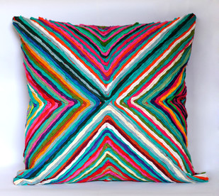Katran Cushion : Kite Pattern : Multicolor Cushion Cover By Sahil & Sarthak