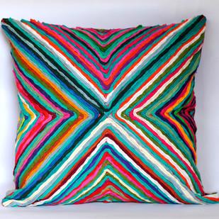 Katran Cushion : Kite Pattern : Multicolor Cushion Cover By Sahil & Sarthak