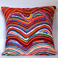 16 x 16 waves multicolor cusion cover by sahil   sarthak