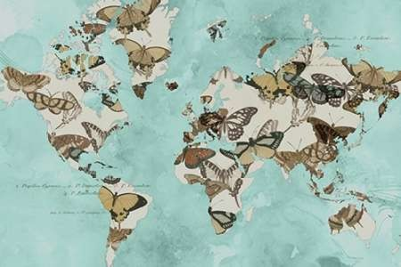 Migration of Butterflies Digital Print by Goldberger, Jennifer,Decorative
