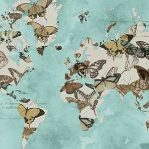Migration of Butterflies Digital Print by Goldberger, Jennifer,Decorative
