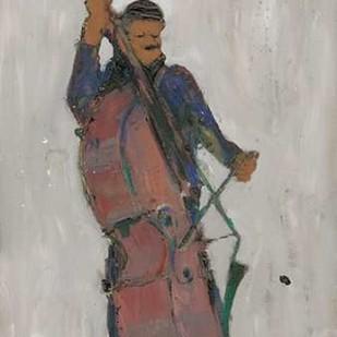 The Man Behind the Bass Digital Print by Dixon, Samuel,Decorative