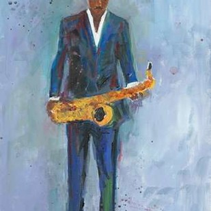 Sax in a Blue Suit Digital Print by Dixon, Samuel,Decorative