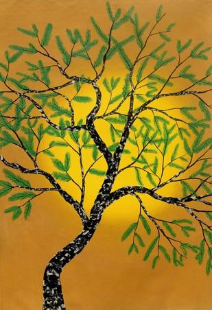 Pitvaya by Sumit Mehndiratta, Impressionism Painting, Acrylic on Canvas, Brown color