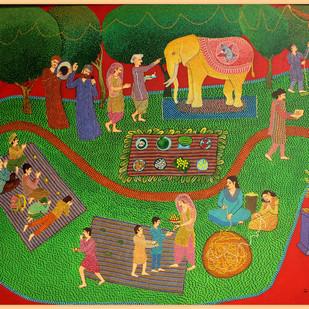 Chaturthi Digital Print by pranav sood,Expressionism